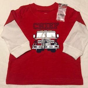 NWT carter's firetruck shirt